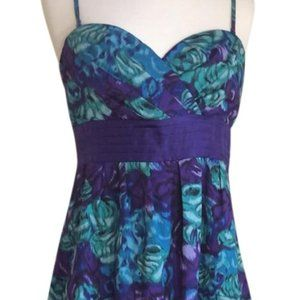 NWOT Moulinette Soeurs Alloy Purple & Teal Dress